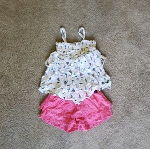 Roxy blouse and short